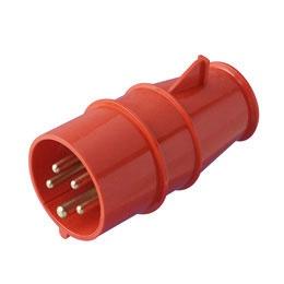 Trīsfāzu kontaktdakša 400V 16A IP44