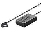 Adapter Schwaiger 3xScart IN=>1SCART OUT 21P 0,4m