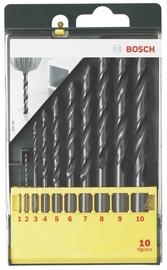 Metallipuuride komplekt Bosch HSS-R, 10-osaline