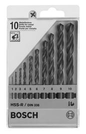 Metallipuuride komplekt Bosch HSS-R 10-osaline