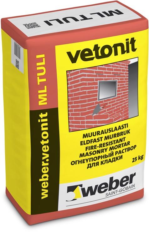Tulekindel müürisegu Weber Vetonit ML TULI 25kg