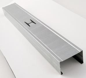Metāla vertikālais profils CW Favor 75x50mm, 2600mm