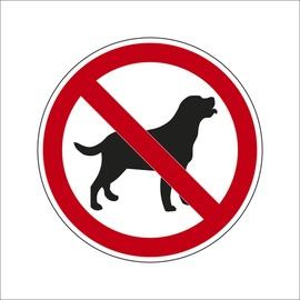 """Uzlīme """"Ieeja ar dzīvniekiem aizliegta"""" Ø10cm"""