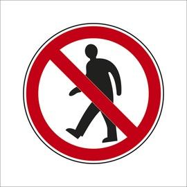 """Uzlīme """"Gājēju kustība aizliegta"""" Ø10cm"""