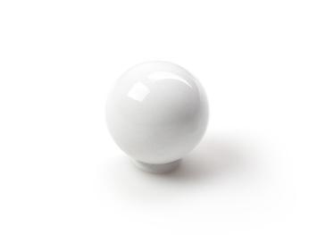 Mööblinupp, valge, 25 mm