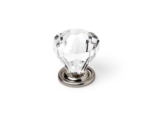 Mööblinupp klaas/nikkel 30mm