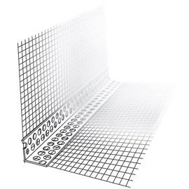 Nurgaprofiil võrguga PVC, 10x15cm, 2,5m