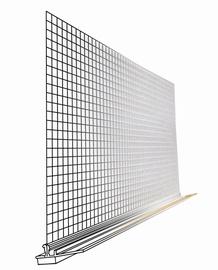 PVC aknaliiteprofiil, võrguga, 6mm, 2,4m