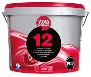 Seinavärv Vivacolor 12, poolmatt, valge (A) 9L