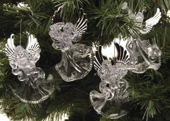 e5a182d8388 Jõulukaunistus ingel, 9cm läbipaistev - Krauta.ee