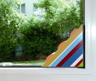 Kärbsepüünis aknale kleebitav, värviline