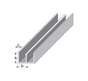 Profiil-E plastik/valge 6x6mm 1m