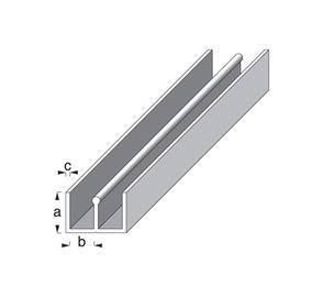 Profiil-E plastik/valge 10x6mm 1m
