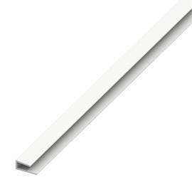 Profiil serv, 4x15 mm, 1 m, plastik/valge