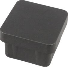 Mēbeļu kāja Prof SN-H 30x30mm, melna, 4 gab.