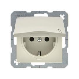 Kontaktligzda ar vāciņu Berker S.1 1P A/V Z/K B/R, balta