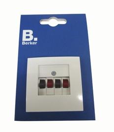 Audio kontaktligzda Berker S.1 1+1P, krēmkrāsas
