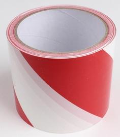 Ohutuslint punane/valge, 8cm x 55m, PE