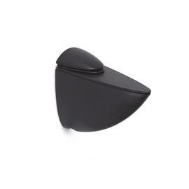 Riiulikandur klaasriiulile, 26 mm, must, 2 tk