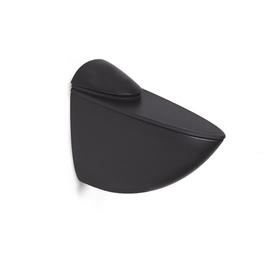 Riiulikandur klaasriiulile, 39 mm, must