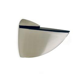 Riiulikandur klaasriiulile, 39 mm, nikkel satiin