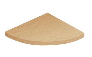 Nurgariiul, 350x350x18 mm, MDF, pöök