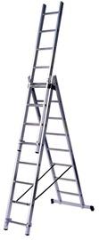 Kombinējamās kāpnes, 3x10 pakāpieni