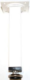Lauajalg kandiline valge 100mm 25x25mm