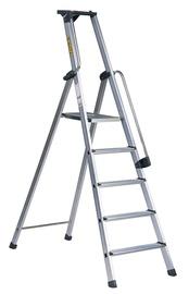 Mājsaimniecības kāpnes ar instrumentu kasti Prof XL, 5 pakāpieni