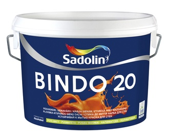 Seinavärv Sadolin Bindo 20, poolmatt, valge (BW) 5L
