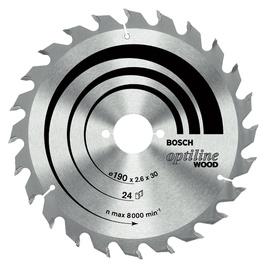 Saeketas Bosch Optiline Wood, 190 x 30 mm, 48WZ