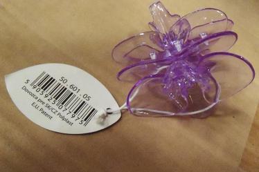 Orhideeklamber, lilla, 1tk