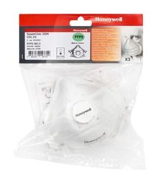 Tolmurespiraator Honeywell FFP2 klapiga 3tk