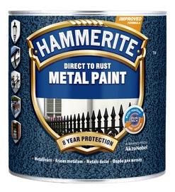 Krāsa metālam Hammerite Hammered 2,5L, tumši zila
