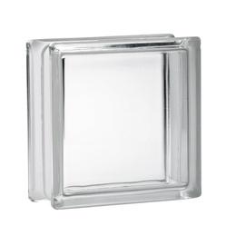 Klaasplokk Clearview 190x190x80, värvitu sile