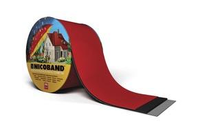 Bituumenlint Nicoband punane 10m x 30cm