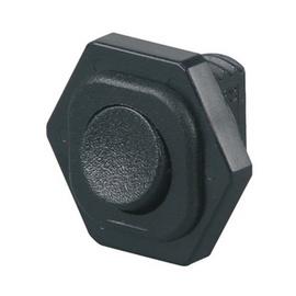 Slēdzis 1P Z/A 6A, melns