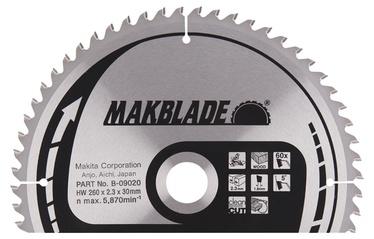 Saeketas Makita Makblade, 260x30x2,3mm, 60T