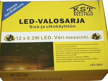 Sauna LED-valgusti, 12x0,2W, IP54, messing