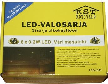 Sauna LED valgusti, 6x0,2W, IP54, messing