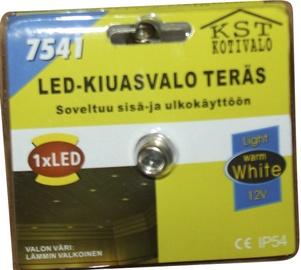 Iebūvējams saunas gaismeklis KST LED 0,2W IP54, niķelis