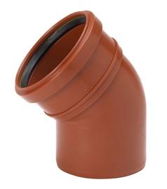 Kanalizācijas līkums Uponor UGD-PP Ø160mm 45°, brūns