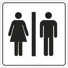 "Uzlīme WC durvīm ""WC"" 10x10cm"