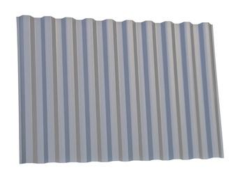 Jumta loksne Gutta Trapez PVC WBS 0,9x2,0m, pelēka