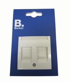 Pistikupesa Berker S.1 telefonile+arvutile, valge