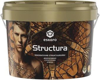 Struktuurvärv Eskaro Structura, valge (A) 2,4L