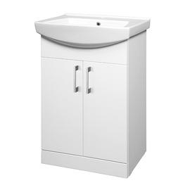 Vonios spintelė Riva SA55-4, balta, su praustuvu
