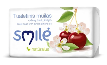 """TUALETINIS MUILAS """"SMILĖ""""; VYŠNIŲ ŽIEDŲ KVAPO; 100 g"""