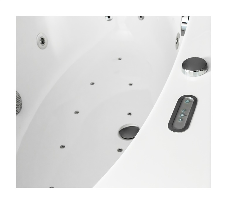 Vonia Kyma Audra su masažo sistema, 170x80 cm, akrilas