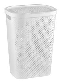 Skalbinių dėžė Curver Infinity 59 l balta, 44x35x60 cm